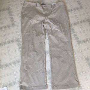 Eddie Bauer Chino Pants Flat Front Stone Color